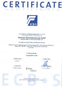 Certification Wertheim